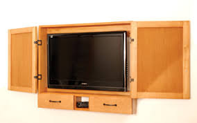 Flat Screen Tv Wall Cabinet With Doors Build A Flat Screen Cabinet With Wood Jigs How To