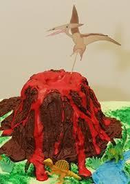 arting around cakes volcano dinosaur party pinterest