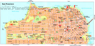 san francisco map 17 top tourist attractions in san francisco planetware