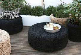 old items into cheap seating to make your garden more comfortable