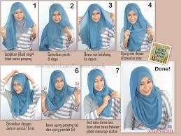 Tutorial Hijab Segi Empat Paris Simple   hijab tutorial segiempat paris simple style simple style