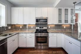 Kitchen Idea Pictures White Subway Tile Kitchen Backsplash U Shaped White Kitchen Design