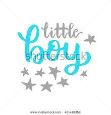 vector baby shower invitation lettering stock vector