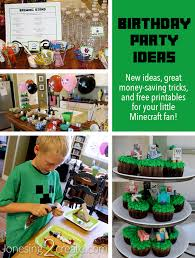 minecraft birthday party jonesing2create