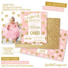 pink and gold first birthday invitation pink u0026 gold 1st