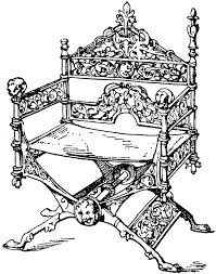 medieval folding chair clipart etc