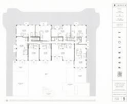 Park West Floor Plan by Parkloft Floor Plan 9th Floor