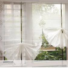 Balloon Curtains For Living Room Beautiful White Balloon Curtains Yarn Embroidery Window Cortinas