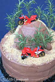 motocross helmet cake diy dirt bike birthday cake