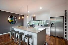 polar white cabinets caesarstone oyster benchtops dulux lexicon on