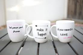 really cute mug designs that you can do as a gift ceramic paint or