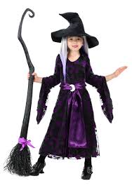 Halloween Makeup For Kids Witch Toddler Girls Purple Moon Witch Costume