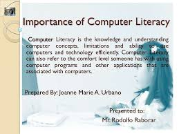 Comfort Level Definition Importance Of Computer Literacy