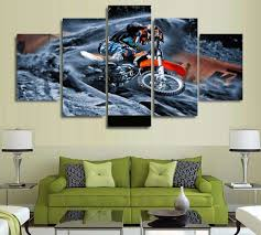 motocross supercross dirt bike spinning out multi panel canvas you won t find something like this anywhere
