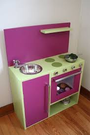 play kitchen ideas purple kitchen cabinets rukle wall with white floor and table also