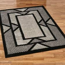 art deco flooring ternion black art deco shag area rugs