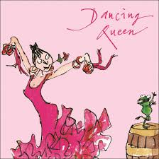quentin blake dancing queen happy birthday greeting card cards