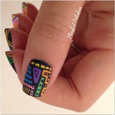 playful polishes 31 day nail art challenge tribal nails