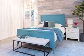 Turquoise Bed Frame Bayside Blue Queen Panel Bed Living Spaces
