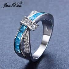 light blue rings images Junxin light blue cross ring jpg