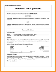 sample loan contract 5 loan agreement templates to write perfect