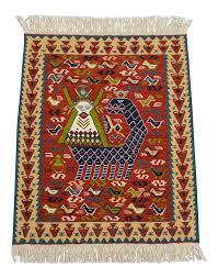 Persian Kilim Rugs by Handwoven Turkish Kilim Rug Mythical Creature Shahmaran Theme Rug