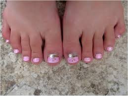 pretty in pink toenails youtube