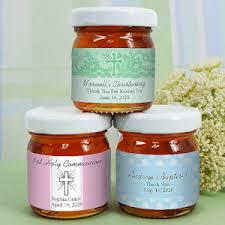 communion favors edible personalized honey communion favors