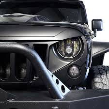 jeep angry headlights genssi abs angry style grille for jeep wrangler jk 2007 2015