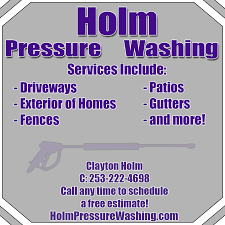 Pressure Washing Estimate by Holm Pressure Washing Home Services Buckley Wa Phone Number