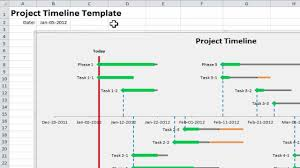 Excel Timeline Template Free Excel Project Timeline 10 Simple Steps To Your Own Project