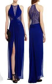 bcbg max azria blue maxine evening gown design pinterest