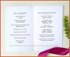 exles of wedding ceremony programs simple wedding ceremony program template paso evolist co