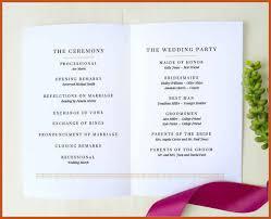 simple wedding program wedding programs template sop exle