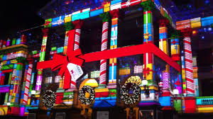 Christmas Lights Projector by Melbourne Town Hall Christmas Projections Youtube