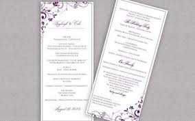 custom wedding programs custom wedding programs