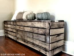 Rustic Storage Bench Our Vintage Home Love Rustic Pallet Bench