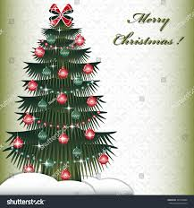 christmas tree abstract christmas vector illustration stock vector
