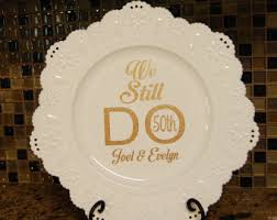 50th anniversary plate anniversary plate etsy