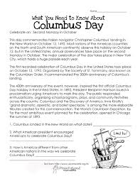 columbus day free worksheet squarehead teachers