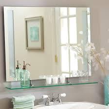 bathroom frameless mirrors bathroom ideas frameless bathroom wall mirrors with shelf above