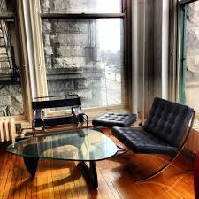 chicago barcelona chair reproduction living room modern with free