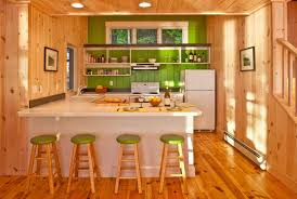 knotty pine for a rustic kitchen with a wood flooring and highland