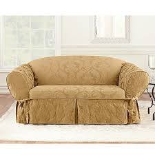 sure fit matelasse damask t cushion sofa slipcover sure fit matelasse damask slipcover collection bed bath beyond