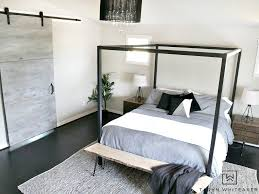 master bedroom update steel canopy bed and bedding taryn whiteaker