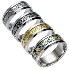 stainless steel silver gold design finger ring
