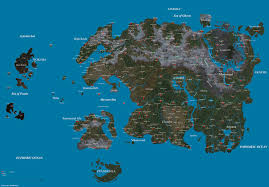 Fantasy World Map by Unpaid Request For A Fantasy World Map