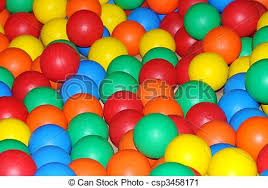 stock photography of coloured plastic balls plastic coloured