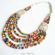 ethnic necklace aliexpress images Tnl363 tibetan necklace yak beaded rainbow necklace multi strands jpg