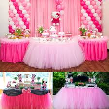 tutu decorations for baby shower 1pcs 15 colors tulle table skirt diy tutu tableware skirts for